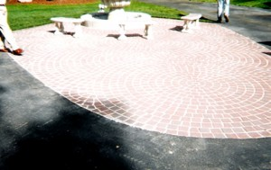 circular brick patio