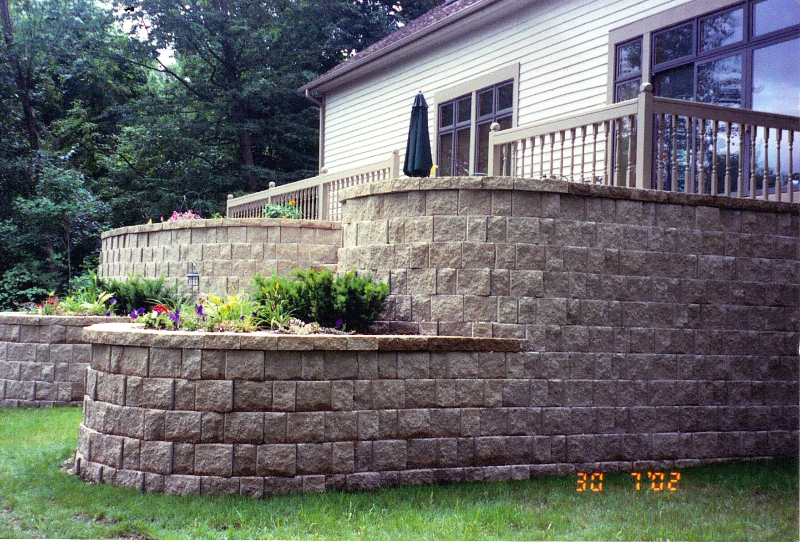 Dry Stacked Natural Stone Retaining Wall Stacked Stone